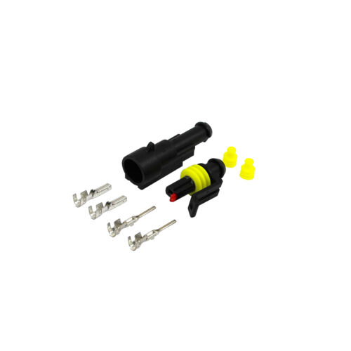 Amp Superseal KFZ nfz conector set 1 polos 0,75-1,50 mm² amarillo impermeable