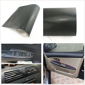 auto interior accessories interior panel black carbon fiber vinyl wrap sticker. Black Bedroom Furniture Sets. Home Design Ideas