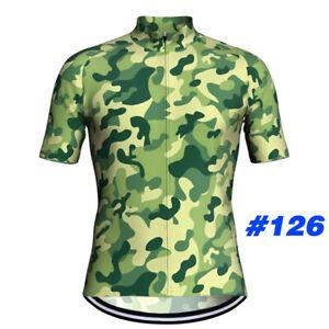 Men-Cycling-Jersey-Bib-Short-Set-Bicycle-Bike-Motocross-MTB-Shirt-camo-Clothing