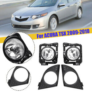 LH-RH-Foglight-Fog-Light-Lamp-Cover-Metal-Without-Bulb-For-Acura-TSX-2009-10-US