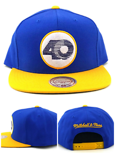 fea4dd64 Details about Los Angeles Rams New Mitchell & Ness 40th Anniv Blue Gold Era  Snapback Hat Cap
