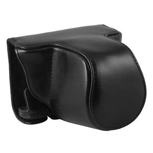 PU Leather Case Bag For Pentax Q-S1 with 5-15mm Lens Digital Camera (Black)