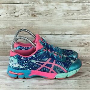 Asics-Gel-Noosa-Tri-11-Youth-Size-5-Women-6-5-Blue-Pink-Athletic-Running-Shoes