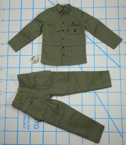 Alert line WWII USMC BAR gunner uniform 1//6 toys Marine Dragon Soldier GI DID
