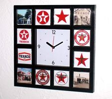 History of Texaco Gas Oil logo Clock with 12 pictures