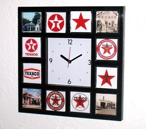 Details about History of Texaco Gas Oil logo Clock with 12 pictures