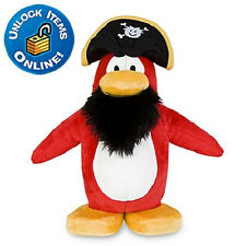 """2pc Disney Club Penguin Plush 9"""" CAPTAIN ROCKHOPPER BUMBLE BEE toys"""