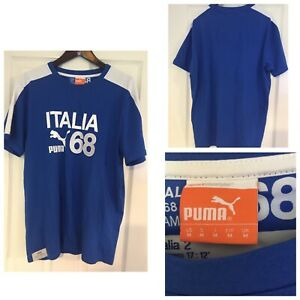 Puma-Italia-1968-Campioni-Mens-Size-Medium-M-Short-Sleeve-Shirt-615