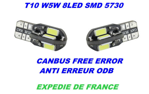 2 LED PLAQUE D/'IMMATRICULATION CITROEN DS3 W5W 22 SMD BLANC XENON CANBUS