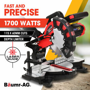 【EXTRA20%OFF】BAUMR-AG Compound Mitre Drop Saw 210mm 1700W Laser Guide Angle