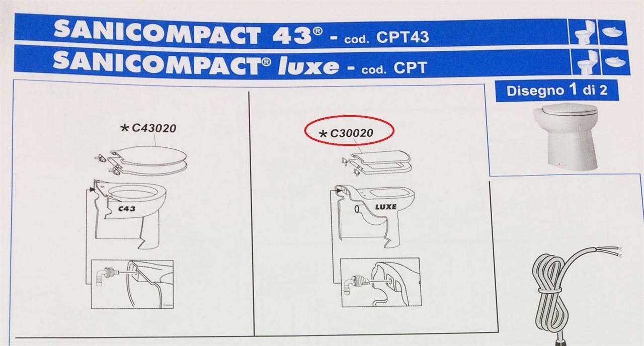 Sedile bianco luxe plastica SFA C30020