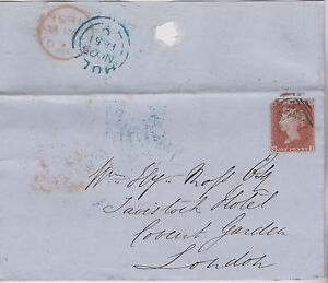 GB-QV-1851-WRAPPER-PENNY-RED-1d-IMPERF-039-QD-039-FROM-HULL-TO-LONDON-25TH-NOV-1851