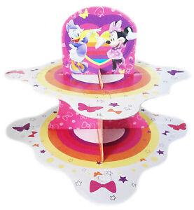 Enjoyable 2 Tier Disney Cup Cake Stand Kids Birthday Party Table Decor Funny Birthday Cards Online Inifodamsfinfo