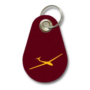 Samunshi Schlüsselanhänger Segelflieger aus Filz  12 Farben 9,5x6,5cm