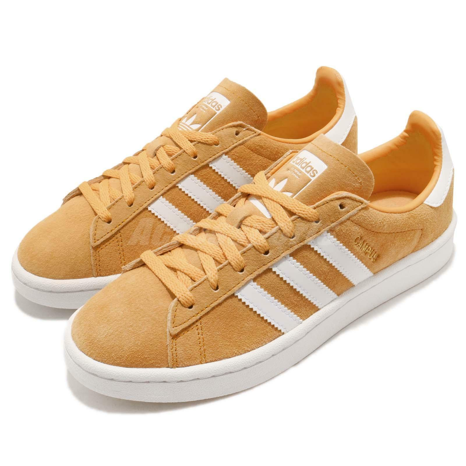 adidas Originals Campus W Chalk Shoes Orange White Women Casual Shoes Chalk Sneakers AQ1071 28e1cb