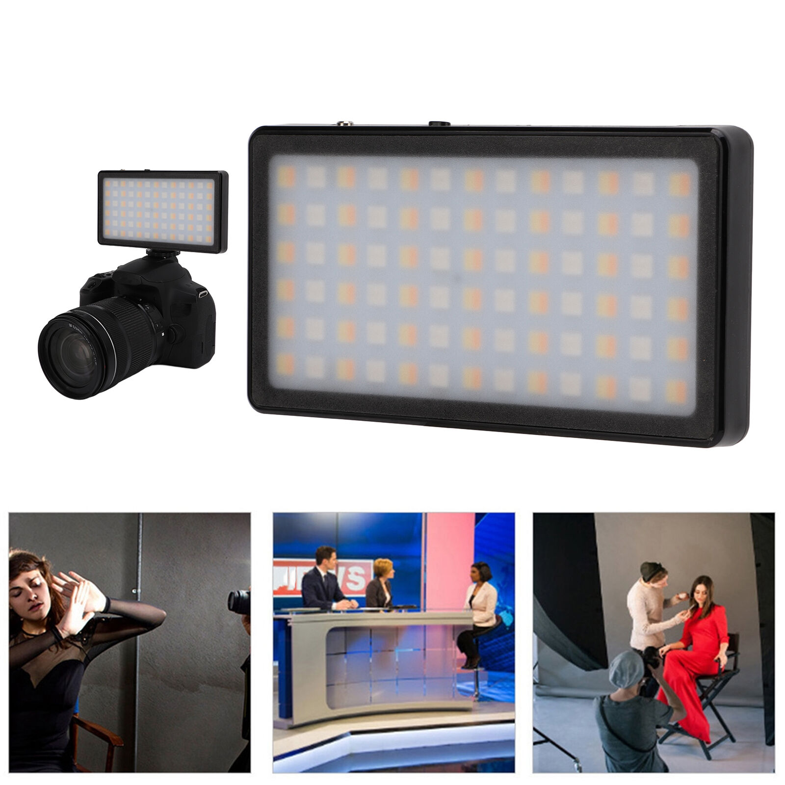 7 Special Effects Rechargeable LED Video Light Camera Photography Fill Light