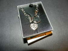 PLAYBOY Big Stone Ring,bunny & crystal heart platinum plated Necklace NEW