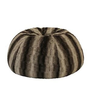 Stupendous Details About Wolf Fur Beanbag Cover Liner Deluxe Soft Bean Bag Lounge Chair Rich Earthy Tones Squirreltailoven Fun Painted Chair Ideas Images Squirreltailovenorg