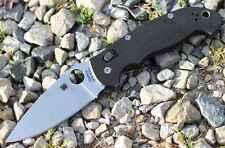 "Spyderco Manix2 XL Knife 3.88"" CPMS30V Steel Drop Point Plade Black G10 Handle"
