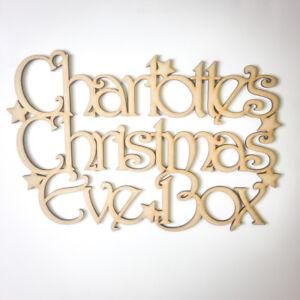 Personalizzata-in-LEGNO-Vigilia-di-Natale-di-TOPPER-MEMORY-BOX-MDF-Regalo