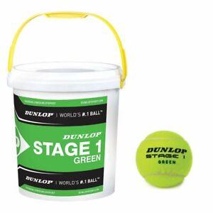 Charmant Dunlop Green Stage I Un Seau Avec 60 Méthodologie Balles De Tennis-afficher Le Titre D'origine