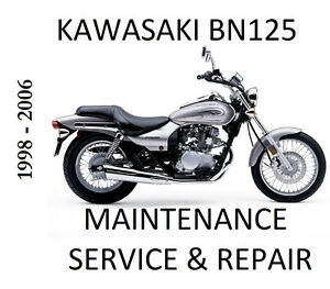 Kawasaki-BN125-Eiminator-BN-125-Workshop-Service-Repair-Maintenance-Manual