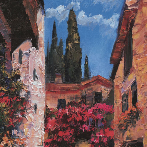 """CHOICES of CANVAS 45W/""""x30H/"""" RIVIERA STAIRS by HOWARD BEHRENS"""