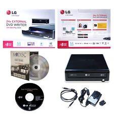 LG GE24NU40 External Portable 24X MDisc CD DVD RW DL Drive Burner USB 2.0 PC/MAC
