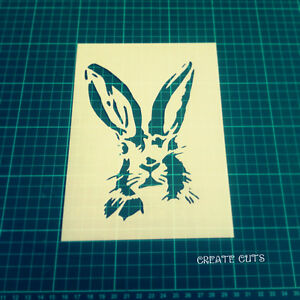 hare stencil rabbit bunny wall art craft animal template airbrush