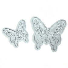 2pcs Butterfly Cake Fondant Decorating Sugarcraft Cookie Cutters Mold