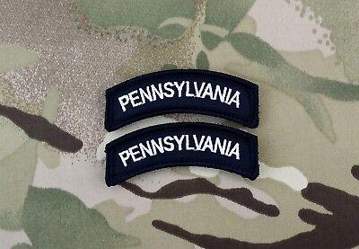 Virginia State Tab Patch Set VA Black /& White B/&W SWAT Police Hook Backing