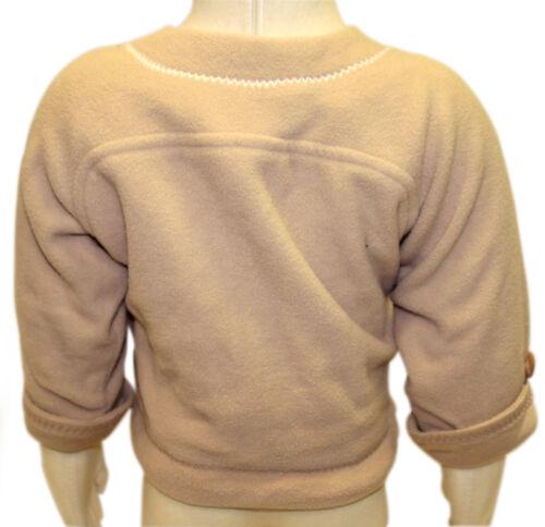JACADI Unisex Azurer Feather Beige Long Sleeve Cardigan Sz 6 Months NWT $37