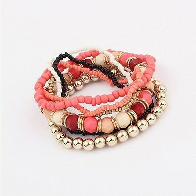 New Design Wholesale Multilayer Fashion Lady Party Bracelet Bangle Set Hot