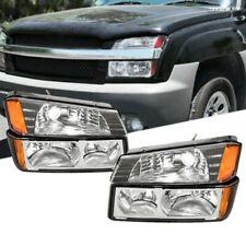 Headlightssignal Bumper Lamps For 2002 2006 Chevy Avalanche 1500 2500 Pickup Fits 2004 Avalanche 1500