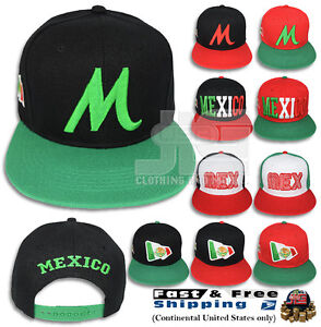 6a01430e8a38e MEXICO Hat Snap-back Flag MEX Men Women 3D Flat Bill Baseball Cap M ...