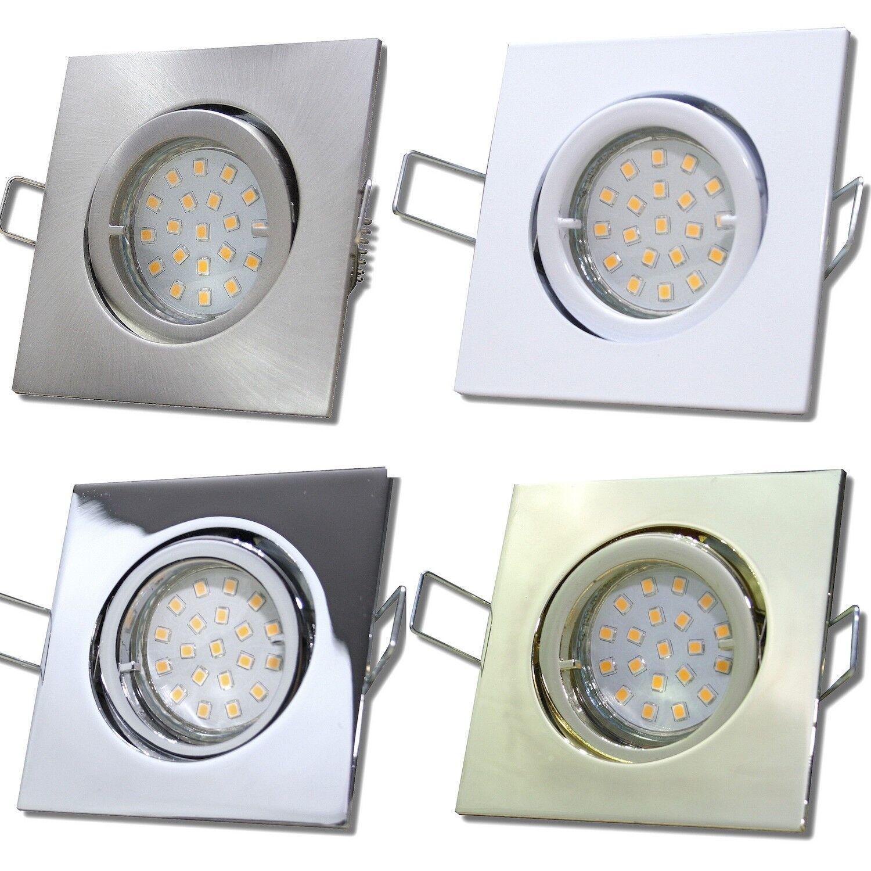 7 x LED Einbaustrahler Dario 230Volt GU10 Einbauleuchte mit 5Watt SMD Power LED | Verkaufspreis  | Online-Exportgeschäft  | Zahlreiche In Vielfalt