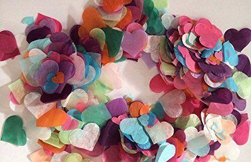 Mariage Décoration 1000pcs 26mm Multi couleur coeurs papier tissu Confettis Fête