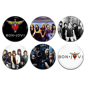 Details about 6x Bon Jovi Band Rock Glam Metal 80's 25mm / 1 Inch D Pin  Button Badges