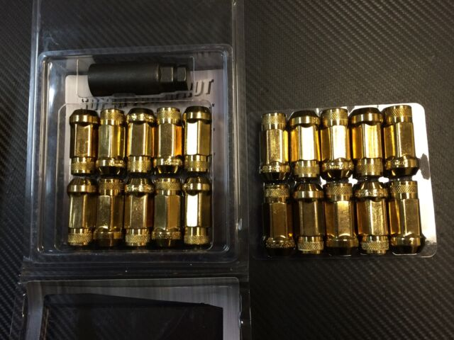 1320 Performance Gold 14x1.5 Steel extended lug nuts m14 x 1.5 24 pcs strong