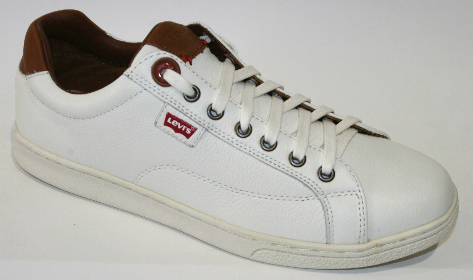 LEVI'S REGULAR Levis baskets blanc marron Levis REGULAR Hombre taille 42 6a5ab1