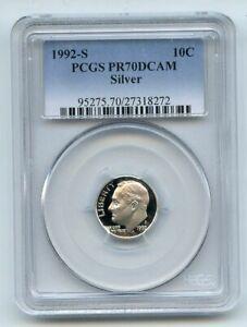 1992-S-10C-Silver-Roosevelt-Dime-Proof-PCGS-PR70DCAM