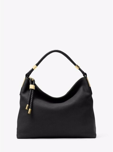 buy best on feet shots of new release Michael Kors Collection Skorpios Large Leather Hobo Bag-black 31h5gskl7l