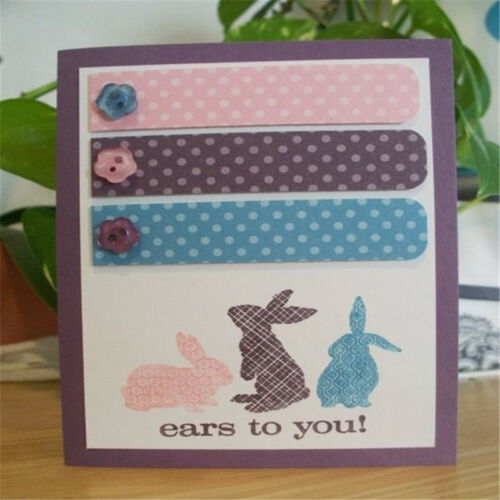 DIY Easter Rabbit Cutting Dies Metal Stencil Scrapbooking Album Paper Card KV