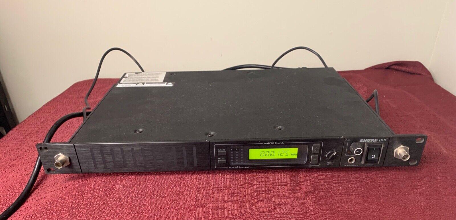 Shure Modello U4s-ua Singolo Ricevitore Frequenza 782-806 Mhz Uhf Marcad Gamma