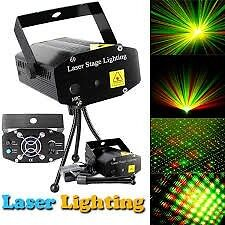 Mini LASER STAGE LIGHT -   with Sound Control -Green Red Laser Stage Lighting - BRAND NEW