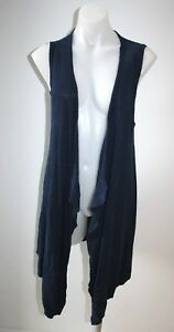 BLUE-ILLUSION-navy-blue-waterfall-vest-size-XS-AU-8-10-135-NEW