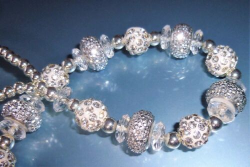 Blanc argent shamballa nœud luxe spécial Cristal Bling Baby Dummy Clip Chaîne