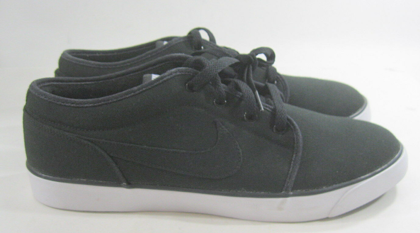 Nike Coast Classic Canvas Sneakers Black/White 443687-001 Comfortable Wild casual shoes