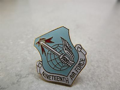 US Air Force 19th Division Shield Pin / Lapel Hat Pin Brand New