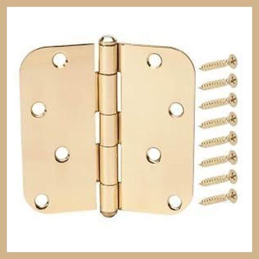 Solid Brass 5//8 in Everbilt 3 in Radius Door Hinge New Sealed Package